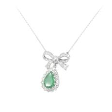 Gldschmiede-Collier mit smaragd und feinsten brillanten